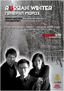 Russian Winter Poster Design A3